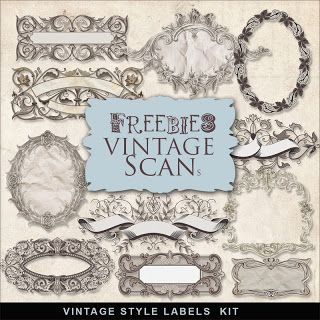 Freebies vintage Etiquetas Kit