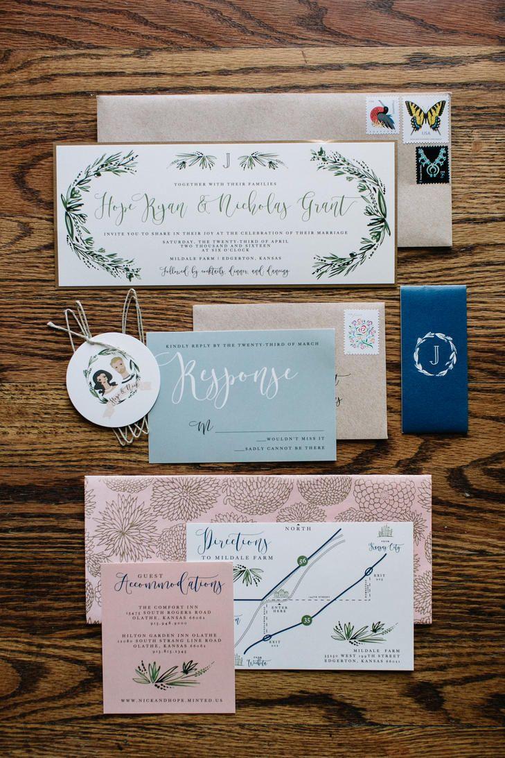 Whimsical Bohemian Wedding Invitation Suite | Photo: Steven Michael ...