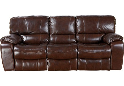 Charming Sanderson Walnut Leather 5 Pc Living Room   Leather Living Rooms (Brown)