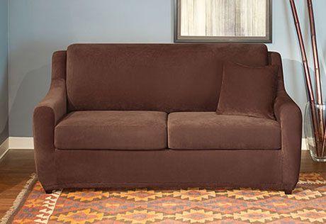 sleeper sofa slipcover full sofa slipcovers pinterest sofa rh pinterest com Sleeper Sofa T-Cushion Slipcover Amazon Full Sleeper Sofa Slipcover