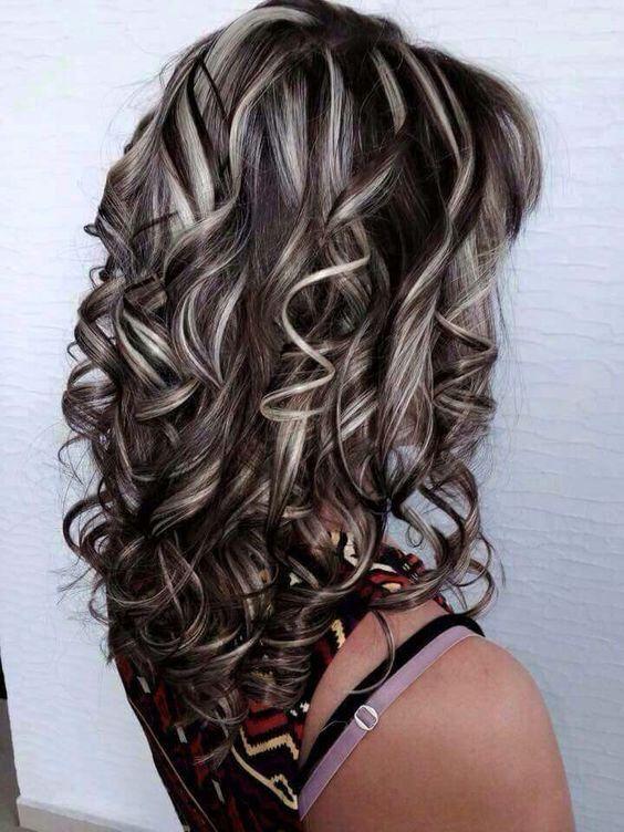 More Streaked Curls Brown Blonde Hair Brown Hair With Blonde