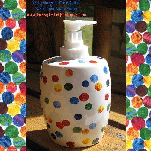 Very Hungry Caterpillar Polka Dot Soap Pump Teacher Appreciation