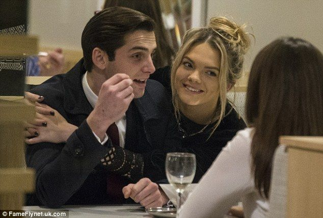 Loved up: X Factor winner Louisa Johnson was spotted with her boyfriend Daniel Elliott at ...