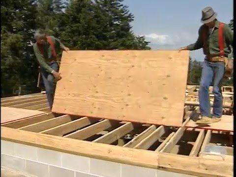 Install The Subfloor Plywood Subfloor Flooring Wood