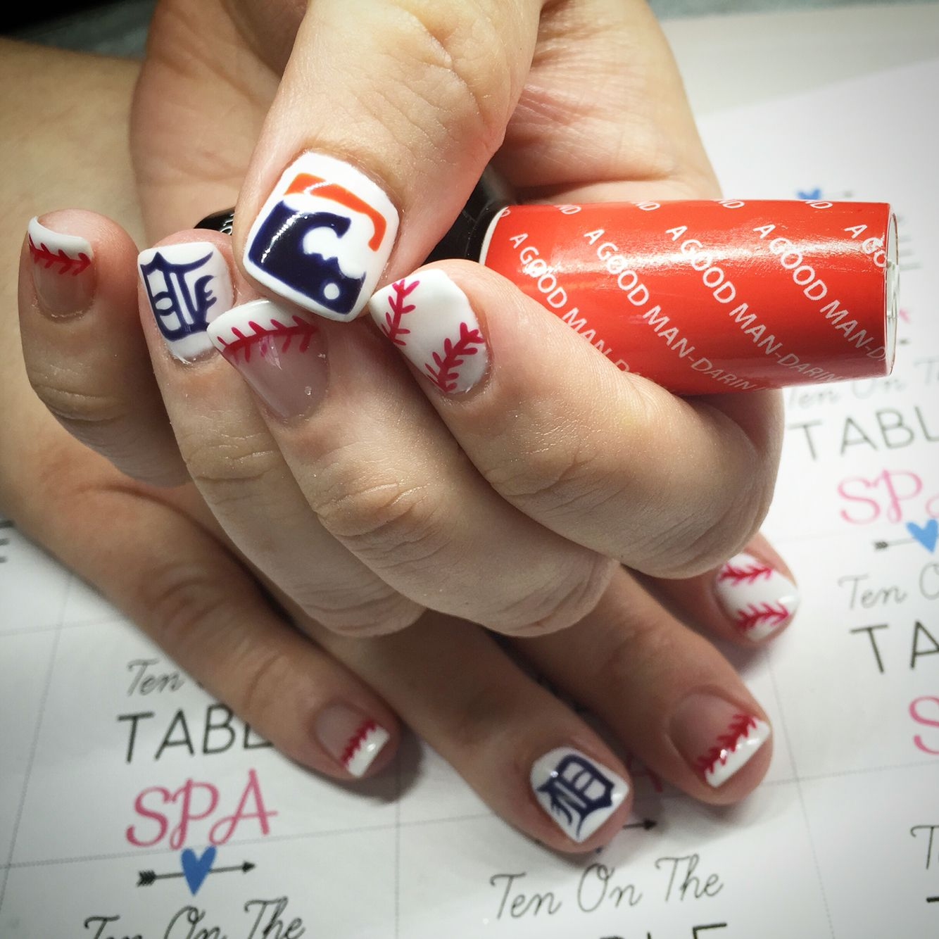 Detroit tiger nail art designs | Ten On The Table Spa | Pinterest ...