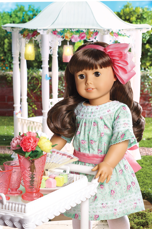 New American Girl doll Pink Polka Dot Rainy Day Spring Coat~Molly~Samantha~Julie
