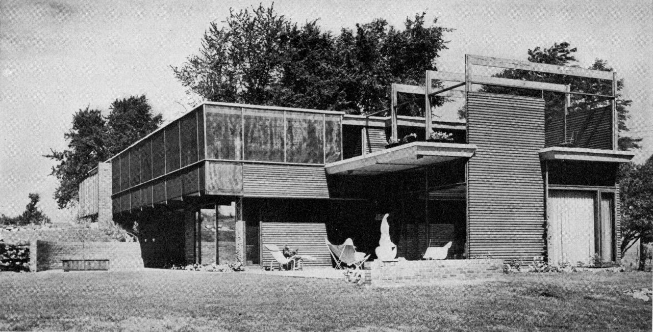 jonasgrossmann:  runnells residence, fairway, kansas , david benton runnells (1950)@ moderns-r-ussee the complete forgotten architects serie...