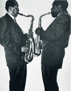 nedobeatnik:  The Pres and The Bird. Lester Young and Charlie Parker for Vogue by Irving Penn, 1952
