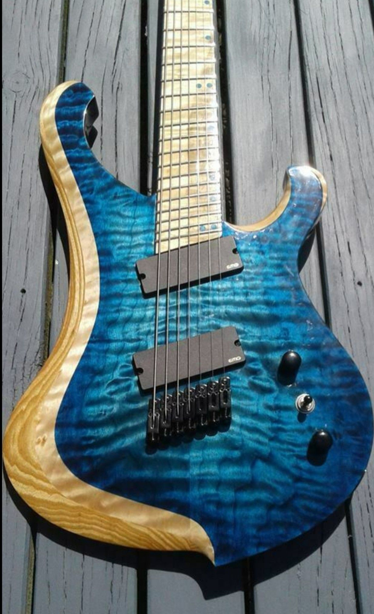 Very Cool Guitar With 2 Tone Wood Coloring Finished By