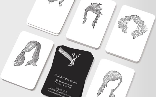 Hairstyles White Hairstylist Business Cards Salon Business Cards Business Card Inspiration