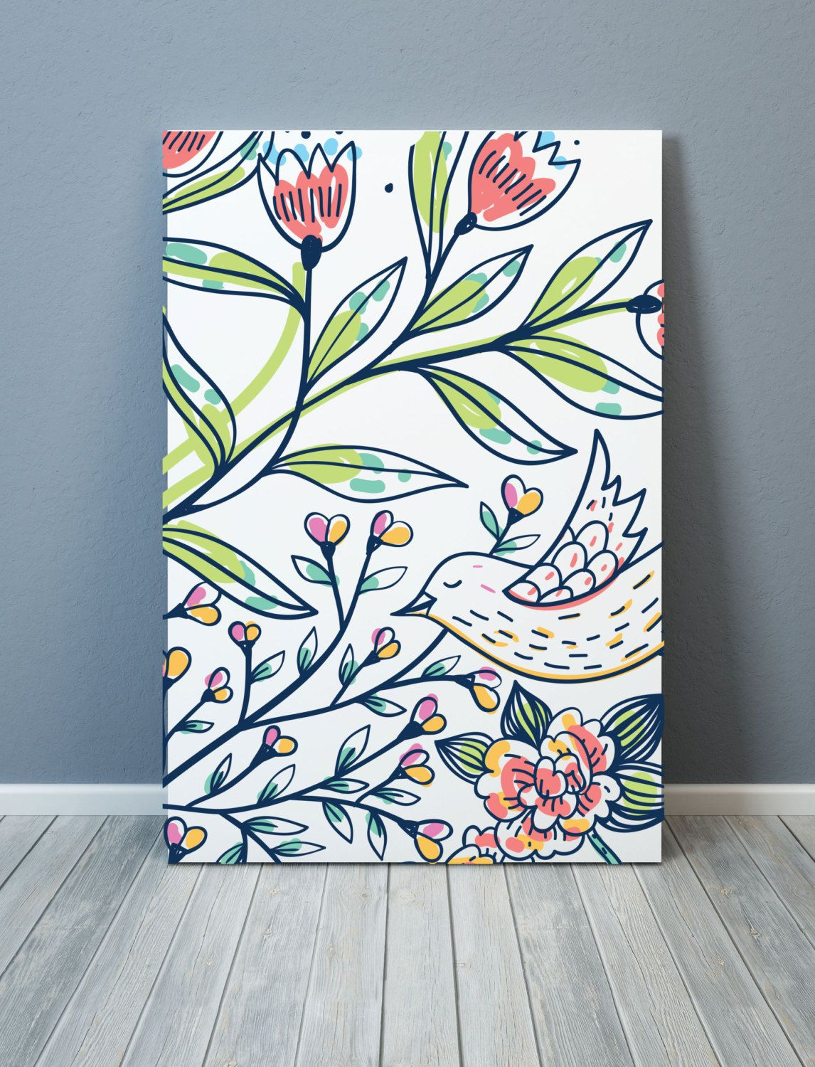 Design poster 70x100 - Design Bird And Flowers Poster A3 50x70 Cm 70x100 Cm Digital Printprintable Poster Wall Art Homedecor Scandinavian Design