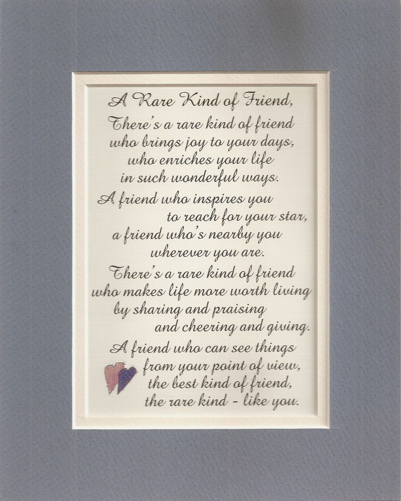 Rare Best Friends Friendship Inspires Sharing Giving Joy Verses