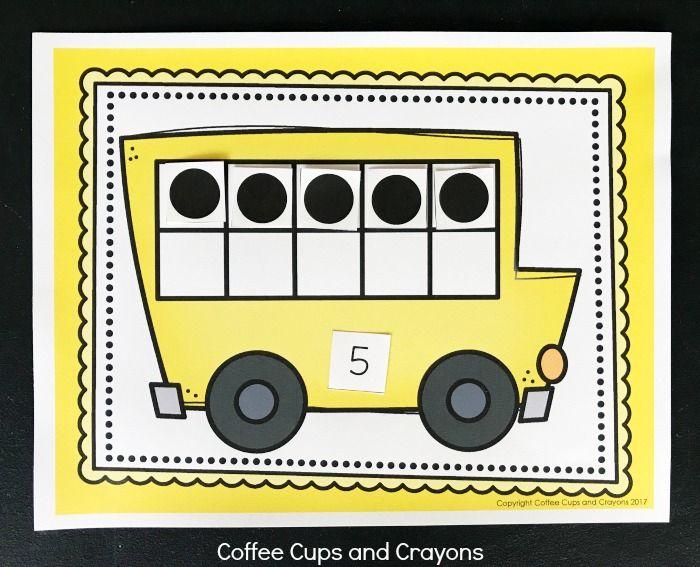 Printable School Bus Ten Frame Activity Ten Frame Activities