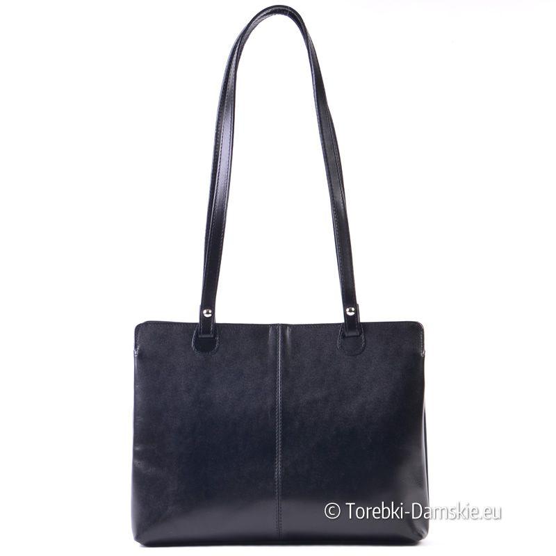 770f8f095d65c Włoska torebka damska ze skóry naturalnej, średnia wielkość, do noszenia na  ramieniu ->