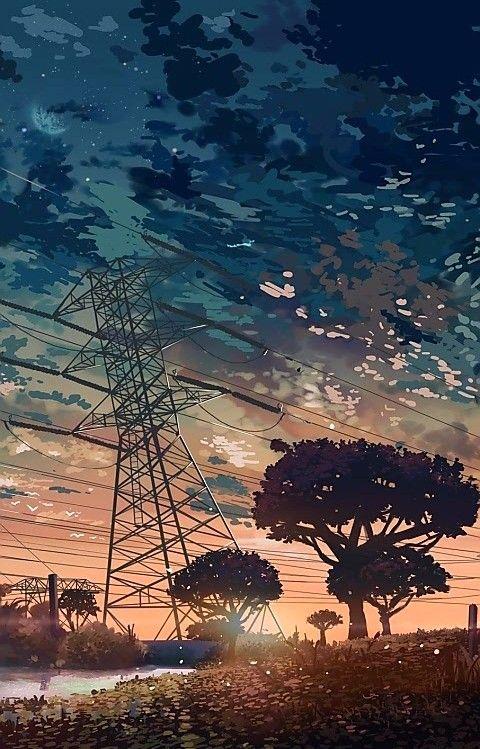 The Nature Of Anime Animewallpaper Animekawaii Animeart Sunset Wallpaper Beautiful Kawaii Sky Scenery Wallpaper Anime Scenery Anime Scenery Wallpaper