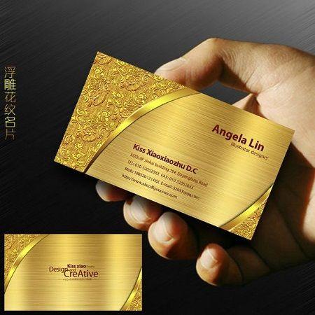 20 Golden Business Cards Designs For Inspiration Elegant Business Cards Design Foil Stamped Business Cards Gold Business Card