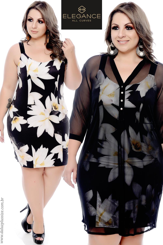0fc3ec3748 Vestido Plus Size - Lançamentos 2018 - www.daluzplussize.com.br ...