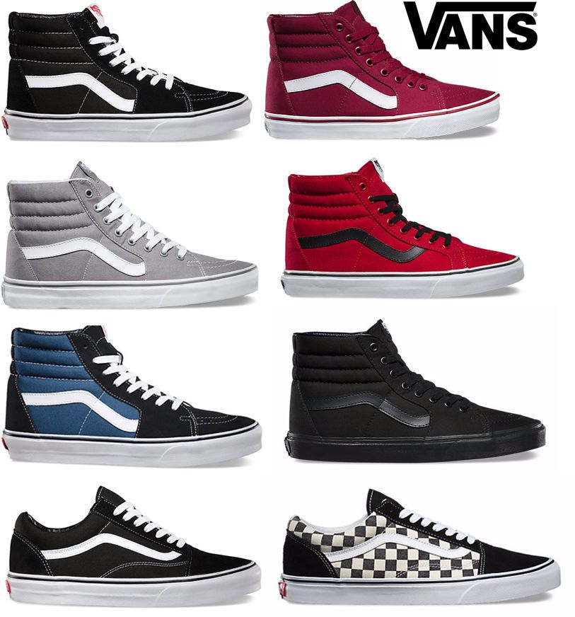 2019 Original Vans old skool sk8 hi mens womens canvas