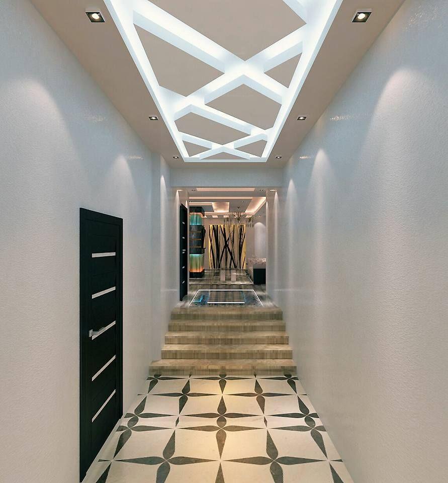 ديكور اسقف الممرات والطرقه ديكور ابداع Decor Epda3 Stairs Decor Home