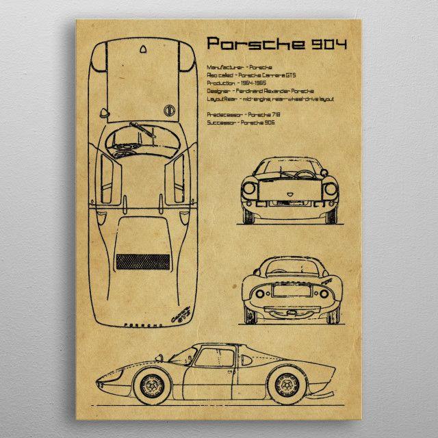 Porsche 904 by FARKI15 DESIGN   metal posters - Displate   Displate thumbnail