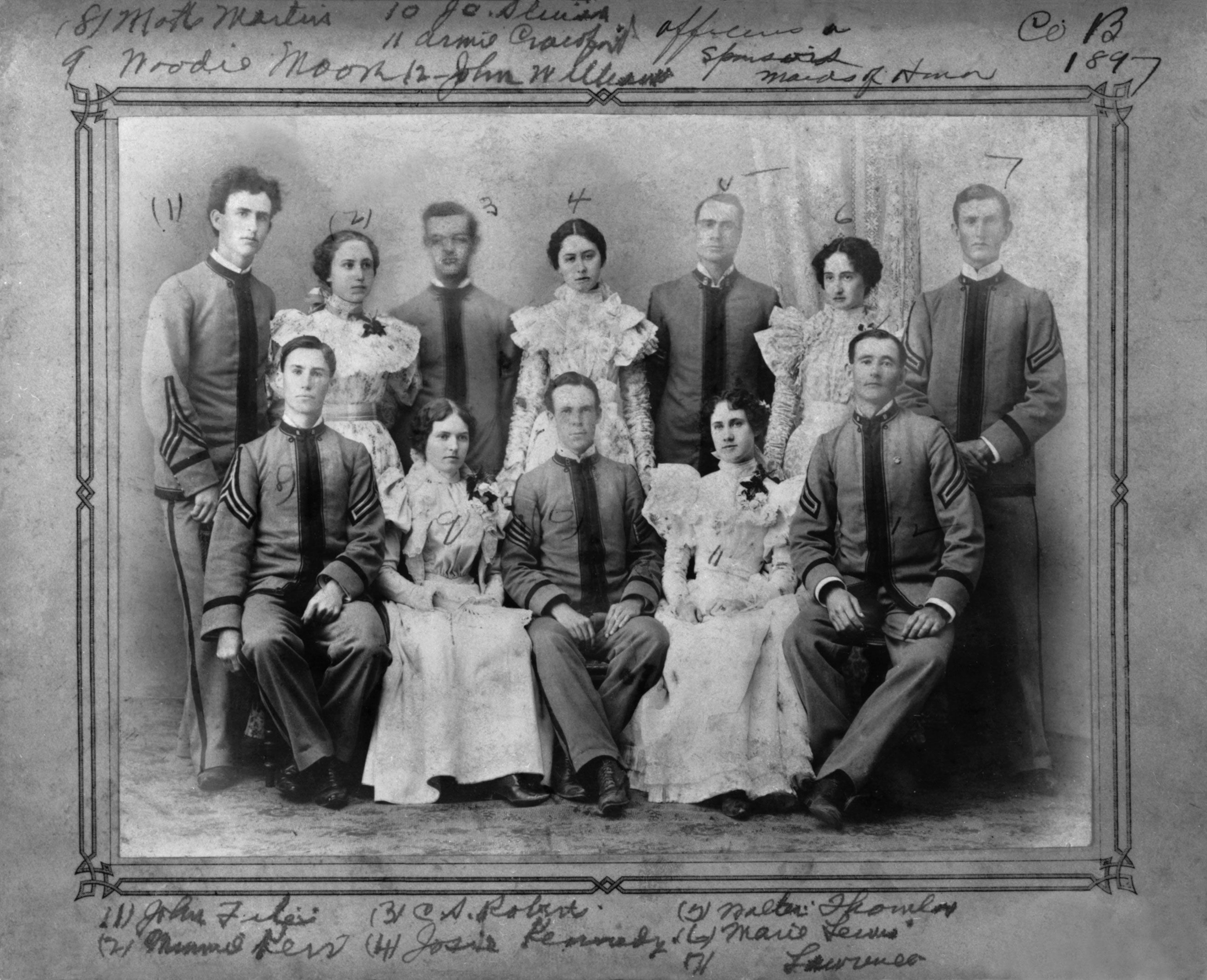 Austin college 1890s cadets and girls austin college