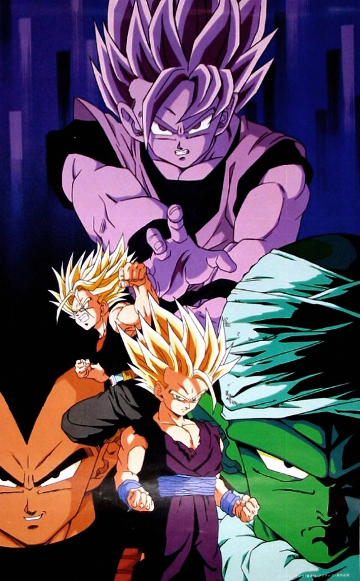 From 94 Calendar Dragon Ball Z Found Here Site I Work With My Studio Photo To Crop And Improve Color Father Owns Several Vintage DBZ