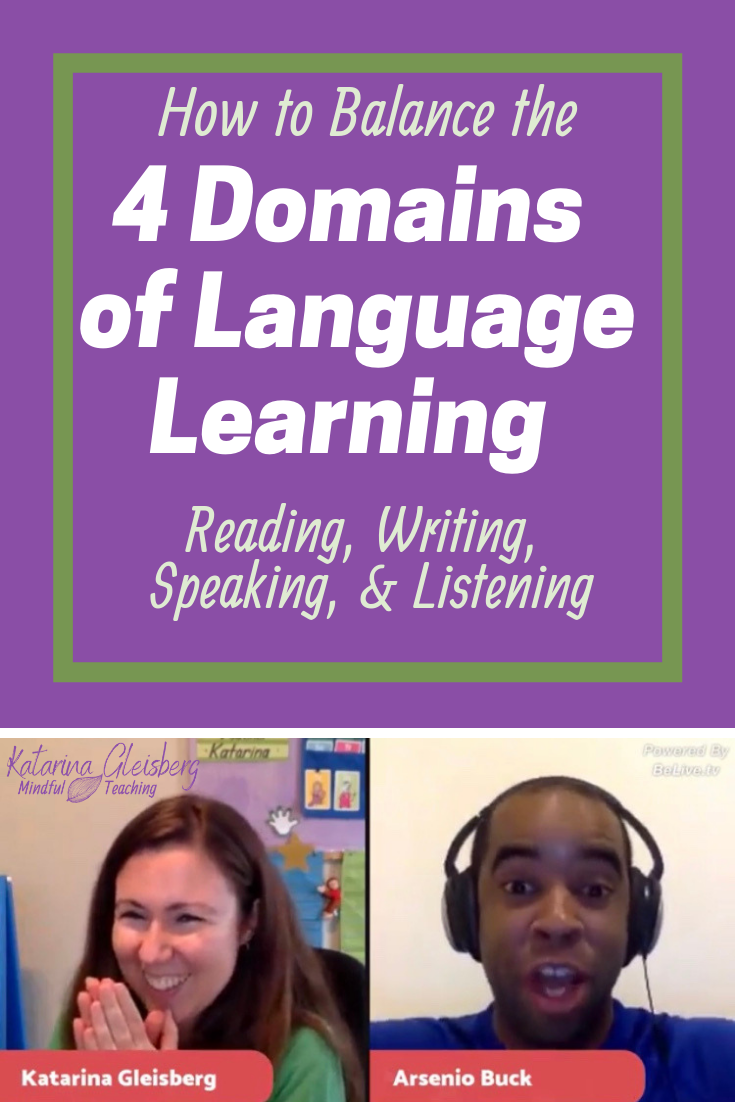 A Balance Between All Four Domains Of Language Learning Reading Writing Speaking And Teaching Reading Comprehension Learning Languages Learning Strategies