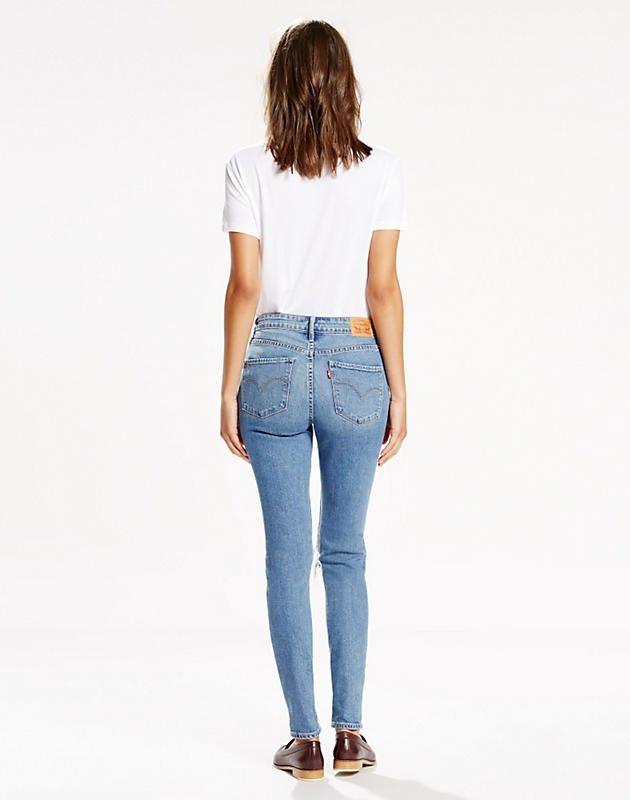 d931bec5258 Levi's 721 High Rise Skinny in Rugged Indigo Back | fancy pants ...