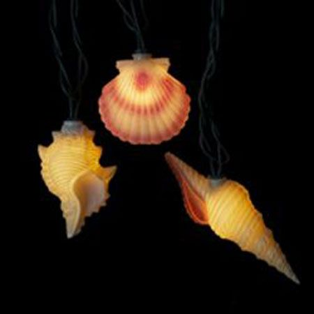Realistic Looking Sea Shell String Lights Conch Scallop Shells Beach Decorations