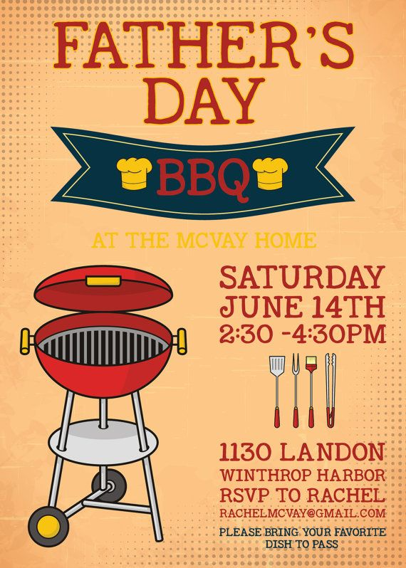 5 X 7 Father S Day Bbq Invitation By Simpledesignsbyjen On Etsy 10 00 Bbq Invitation Thanksgiving Planner Fathers Day