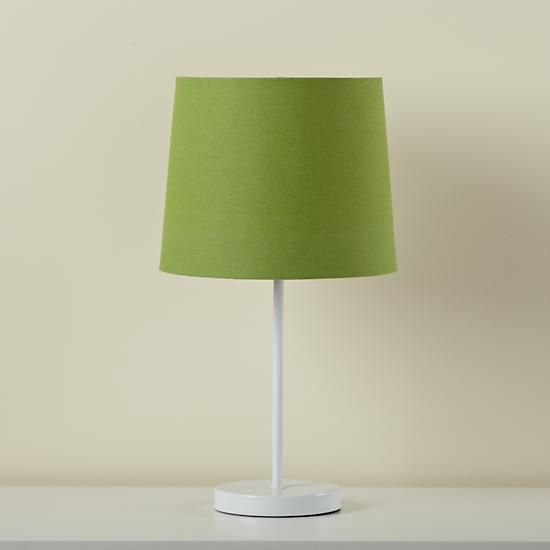 Shop Kidsu0027 Lighting: Kids White Table Lamp Base With Green Fabric Shade.  With Its Understated, Easy To Coordinate Style, This Green Table Lamp Shade  Is ...