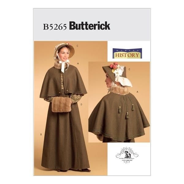 Butterick B5265 Sewing Pattern - Misses\' Historical Costume ...