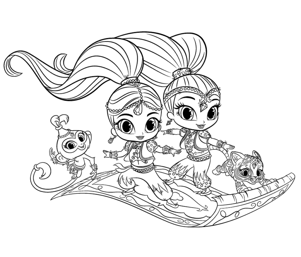 Shimmer And Shine Coloring Pages Coloring Pages Coloring Books