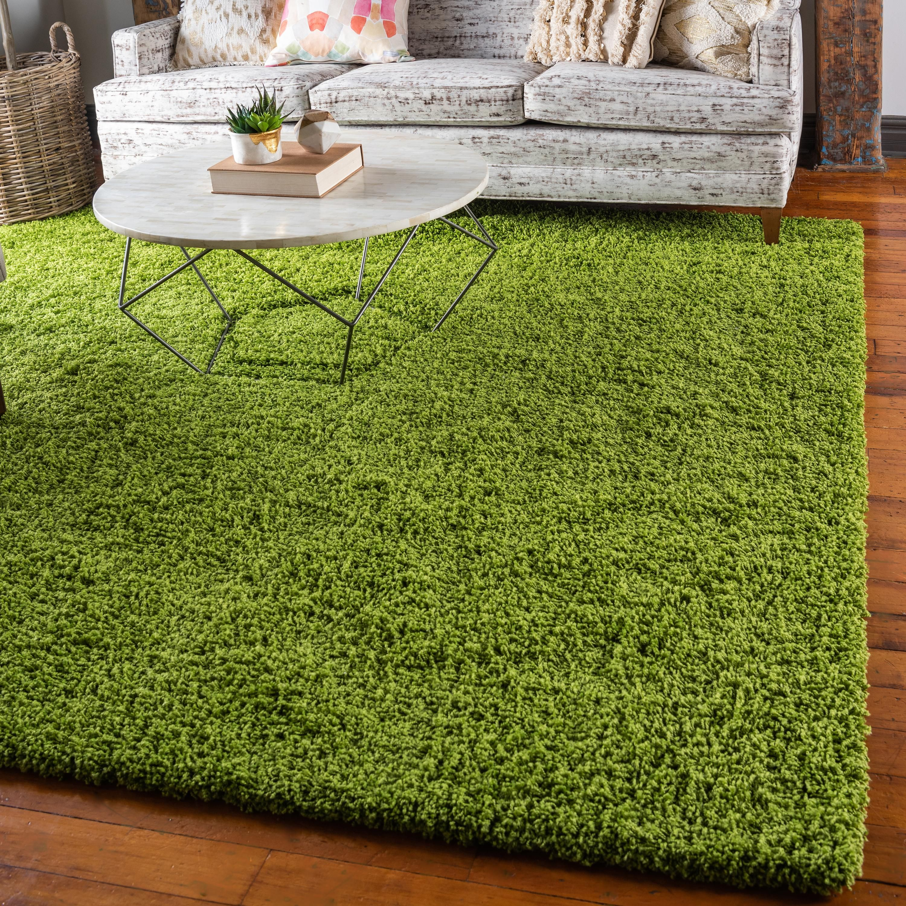 Grass Green 8 2 X 8 2 Solid Shag Square Rug Rugs Com Green Area Rugs Green Rug Bedroom Grass Carpet