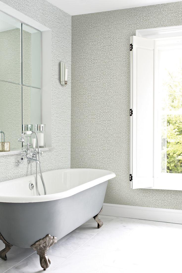 Bakari wallpaper design by Prestigious looks great in this bathroom ...
