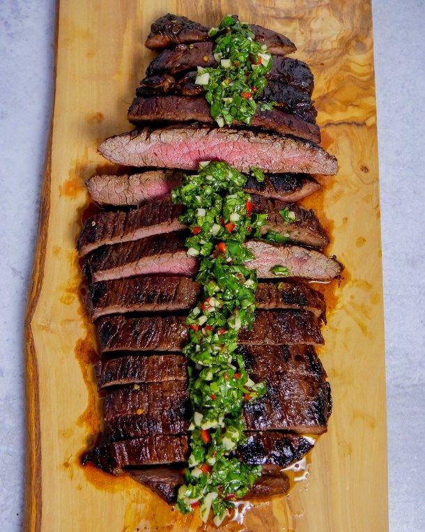 Marinated Flank Steak with Chimichurri