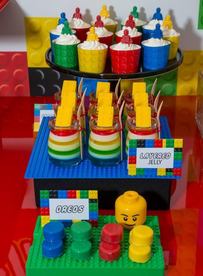 legobirthdaypartylayeredjelly  Lego Theme Party in