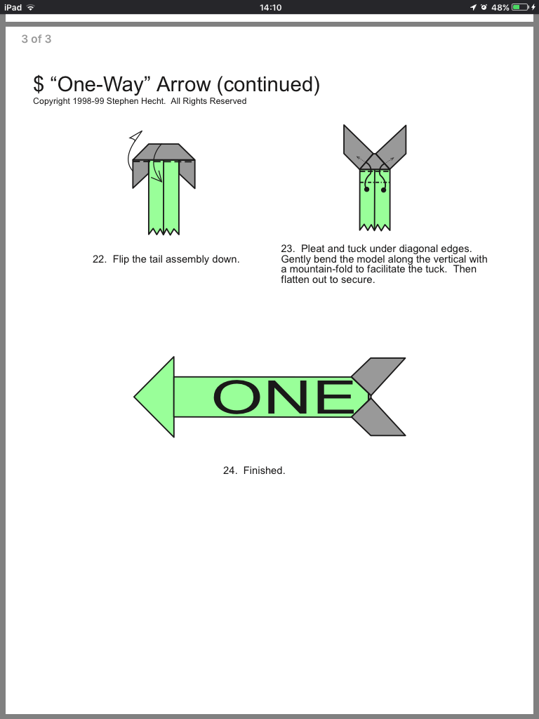 Dollar One Way Arrow 4 Of 4 Money Origami Origami It Is Finished