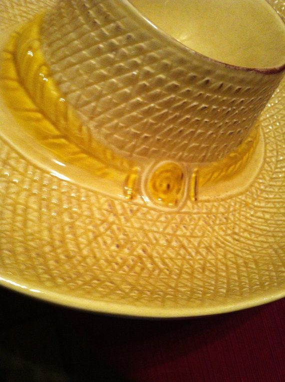California Pottery Sombrero Chip And Dip Bowl By Thechickencooptoo
