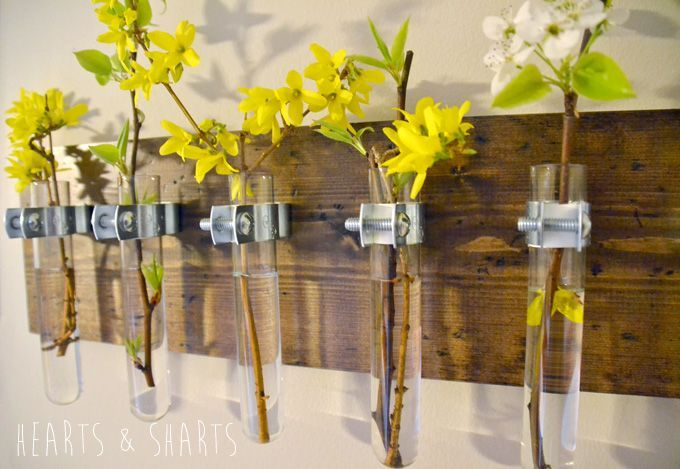 Hanging Test Tube Wall Planter Hearts And Sharts Hanging Wall Vase Wall Vase Wall Planter