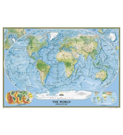 Buy World PhysicalOcean Floor Wall Map By National Geographic Size - Where to buy maps