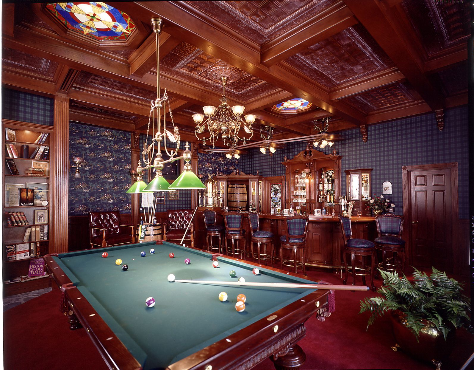 Man Cave Billiard Room : Masculine billiard room and bar the ultimate quot man cave