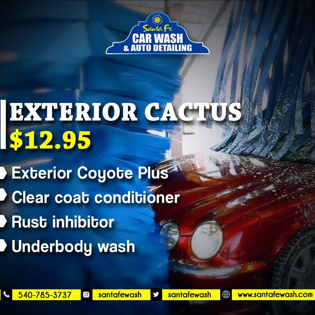 If you've got the time… we've got the shine! Exterior Cactus only 12.95$. #SantaFe #Santafecarwash #carwash #Carcare #car #carservice #autodetailing #cardetailing #USACars #autoservice #carexterior #cleanyourcar #carcondition #Fredericksburg