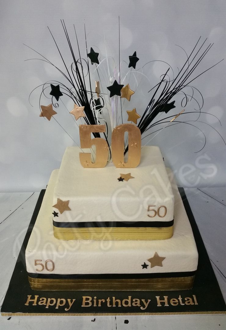 50th Birthday cake | 50th birthday cake toppers, 50th ...