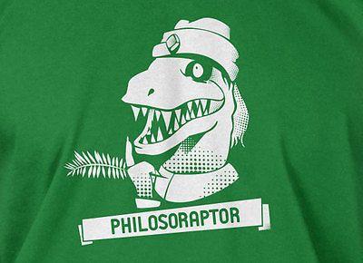 Philosoraptor T-shirt philosophy Raptor Dinosaur Mens Ladies Funny Geek T-shirt