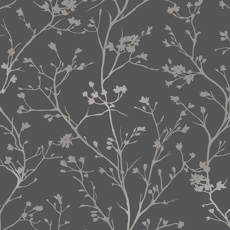 Charcoal Sprig Wallpaper Dunelm Wallpaper Dunelm