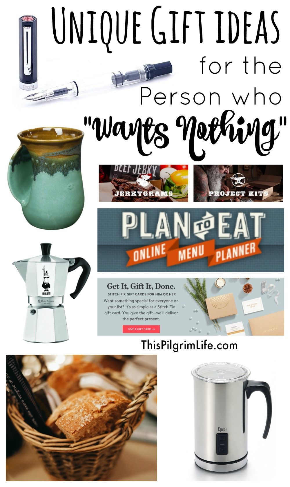 Unique Gift Ideas For The Person Who Wants Nothing This Pilgrim Life Unique Christmas Gifts Christmas Mom Kitchen Gift