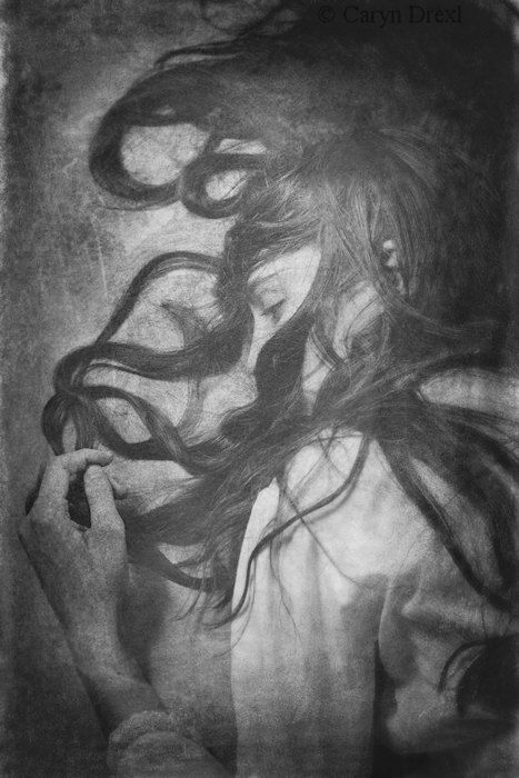 A Penciled In World  FREE SHIPPING Print. Caryn Drexl Photography. Conceptual, Surreal, Portraits.