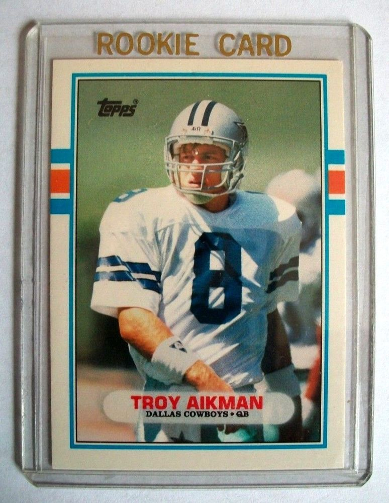 terrific troy aikman 1989 topps traded rookie card 70t