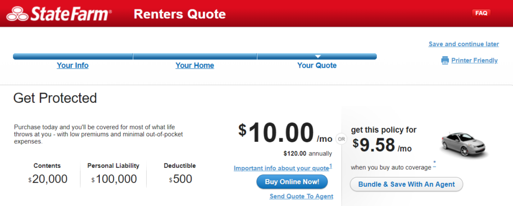 State Farm Renters Insurance Review Home insurance